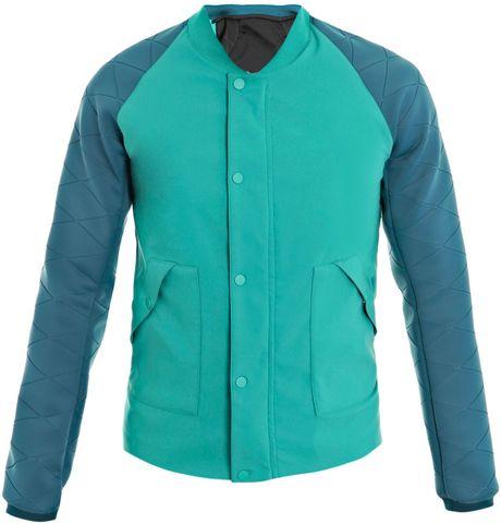 Balenciaga Technical Scuba Bomber Jacket in Green for Men (teal)