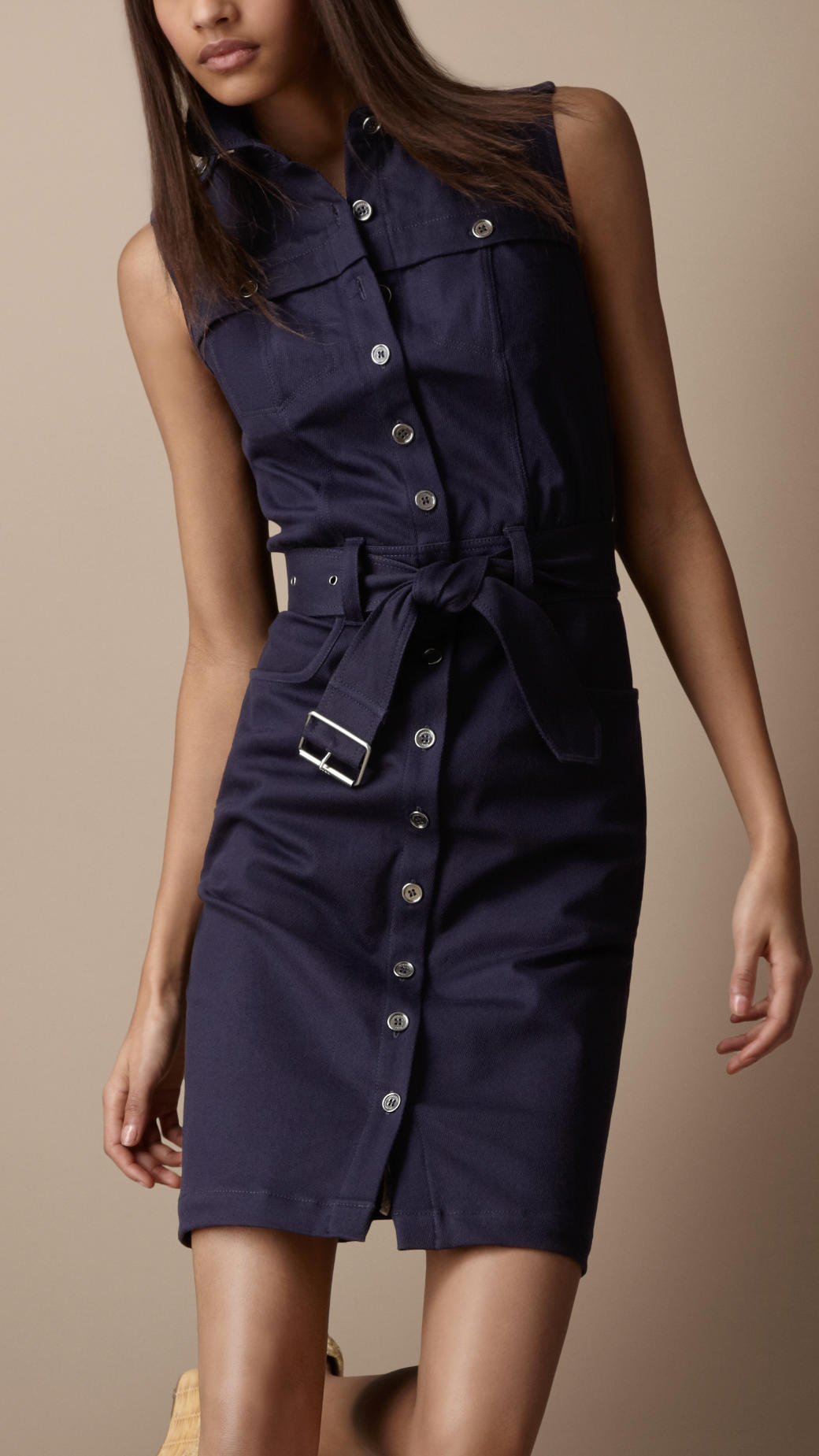 Burberry Brit Heritage Trench Shirt Dress In Blue Lyst