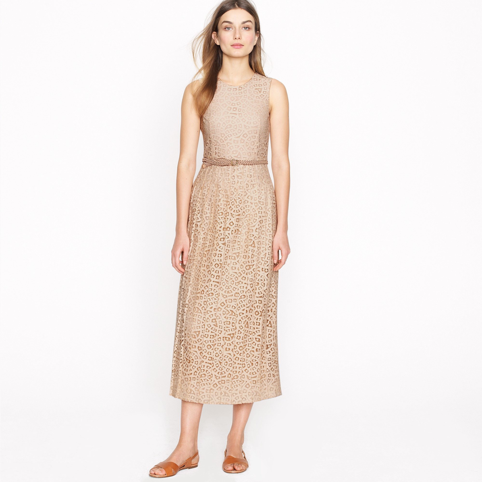 Nature Dress: J.Crew Frances Dress In Raindrop Lace In Natural