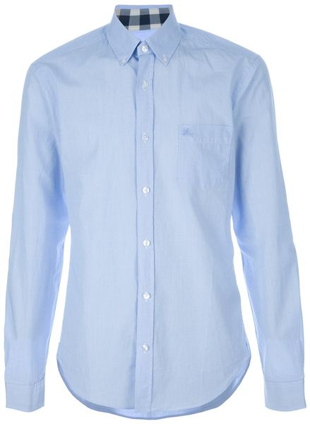 Burberry Brit Classic Shirt in Blue for Men - Lyst