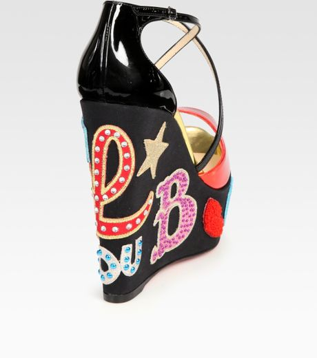 Christian Louboutin Embellished Patent Leather And