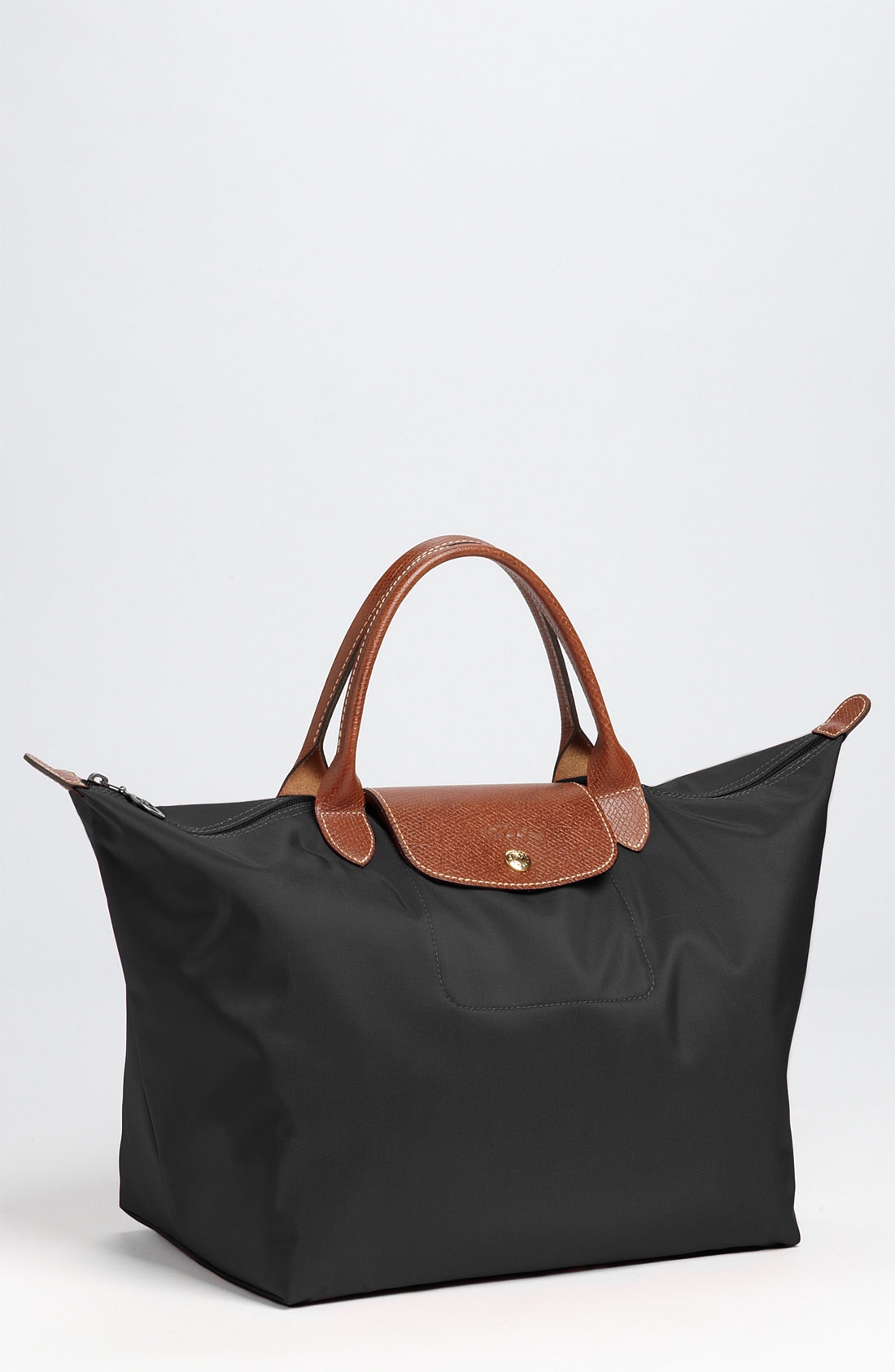 Longchamp Bag Le Pliage Size : Longchamp medium le pliage tote in black lyst