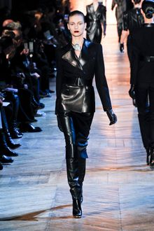 Yves Saint Laurent Fall 2012 Black Leather Gloves - Lyst