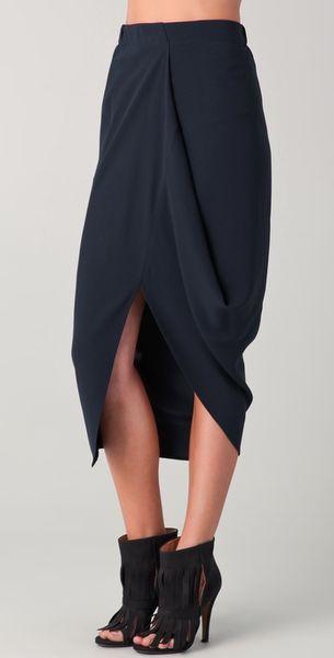 Zero + Maria Cornejo Mio Skirt in Blue (ink)