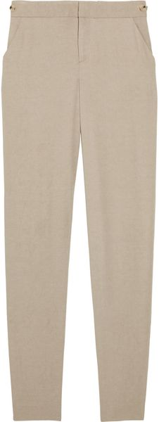 Helmut Lang Stretch-crepe Pants in Beige (brown)