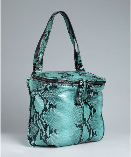 Turquoise Leather Shoulder Bag 54
