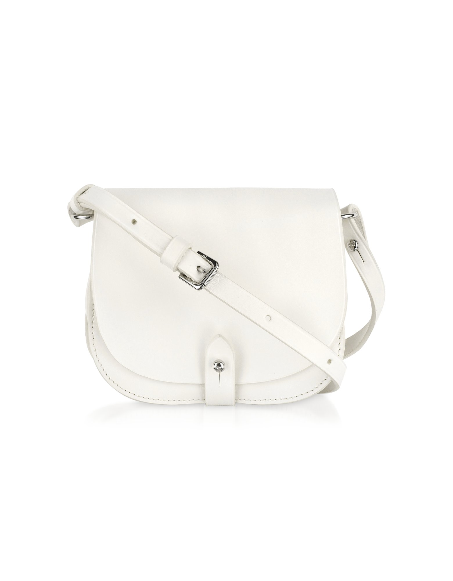 Ralph lauren collection Small Saddle Shoulder Bag in White | Lyst