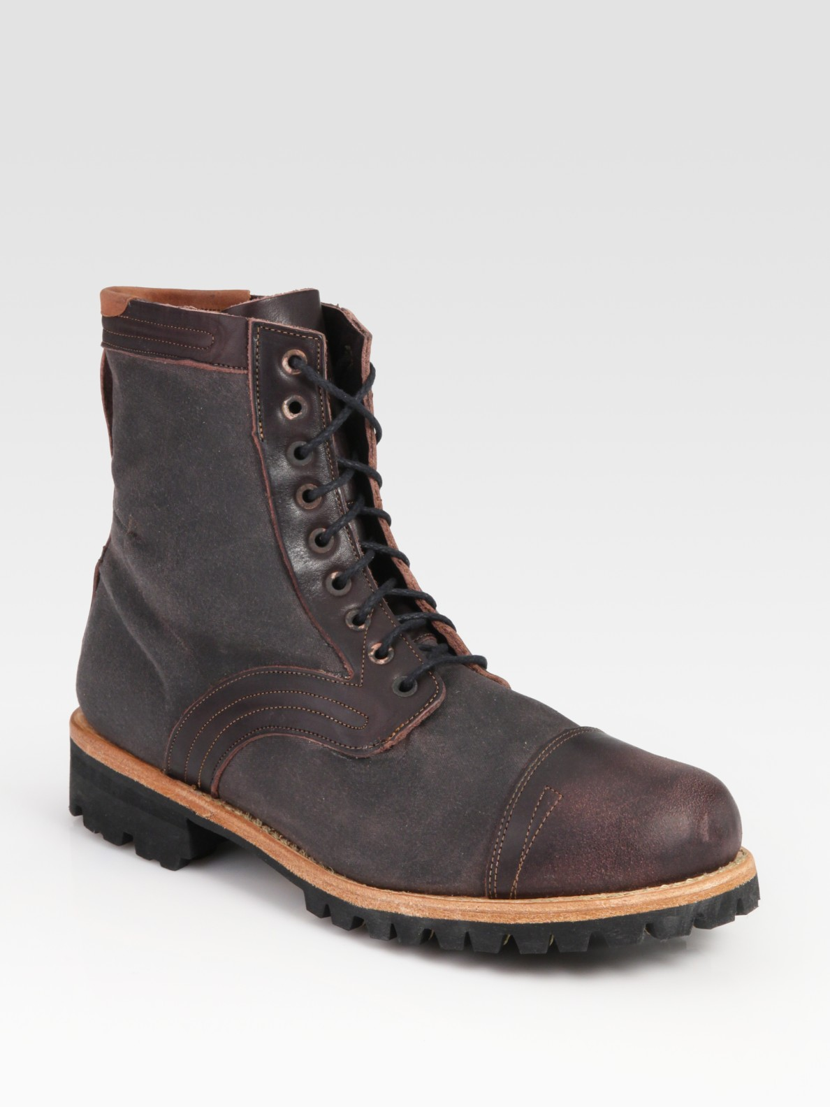 Lyst Timberland Tackhead Lace Up Boot In Purple For Men
