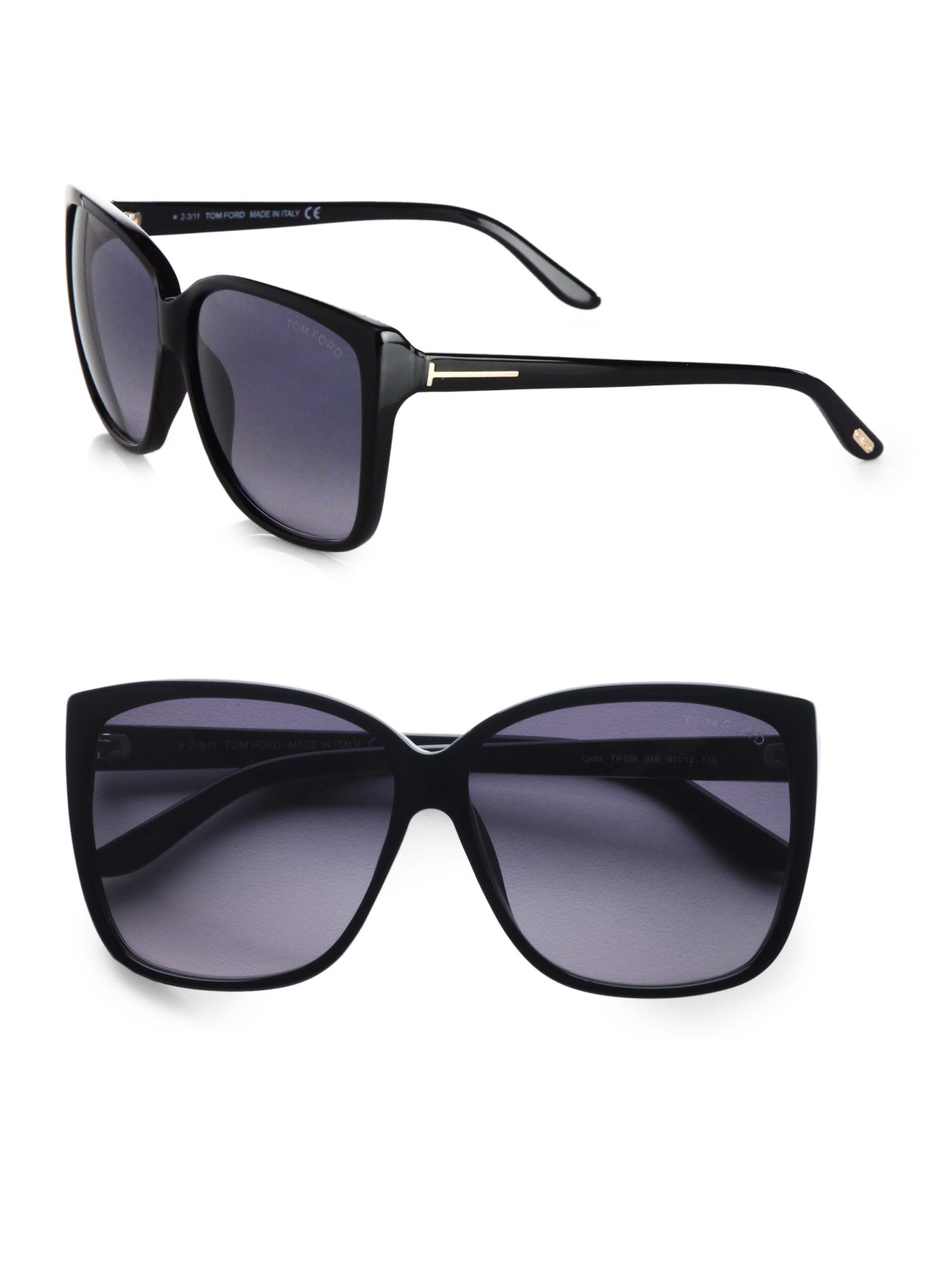 a1416ddc777b Lyst - Tom Ford Over-sized Wayfarer-inspired Plastic Sunglasses in Black