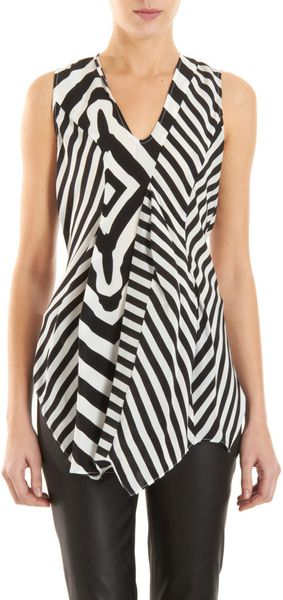 Wayne Optic Stripe Top - Lyst