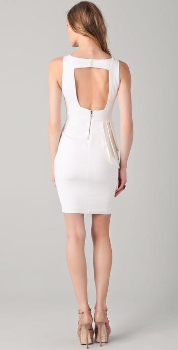Alice Olivia Spelling Side Peplum Dress In White Lyst