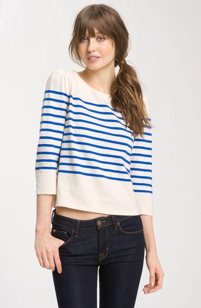 Juicy Couture Nautical Stripe Sweater in Blue (lazuli stripe)