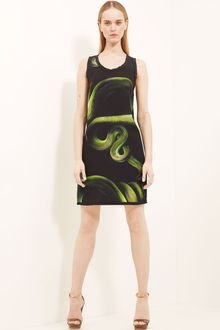 Lanvin Snake Print Crepe Shift Dress - Lyst
