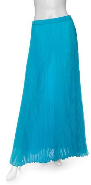 rag bone exclusive accordion pleated maxi skirt in blue