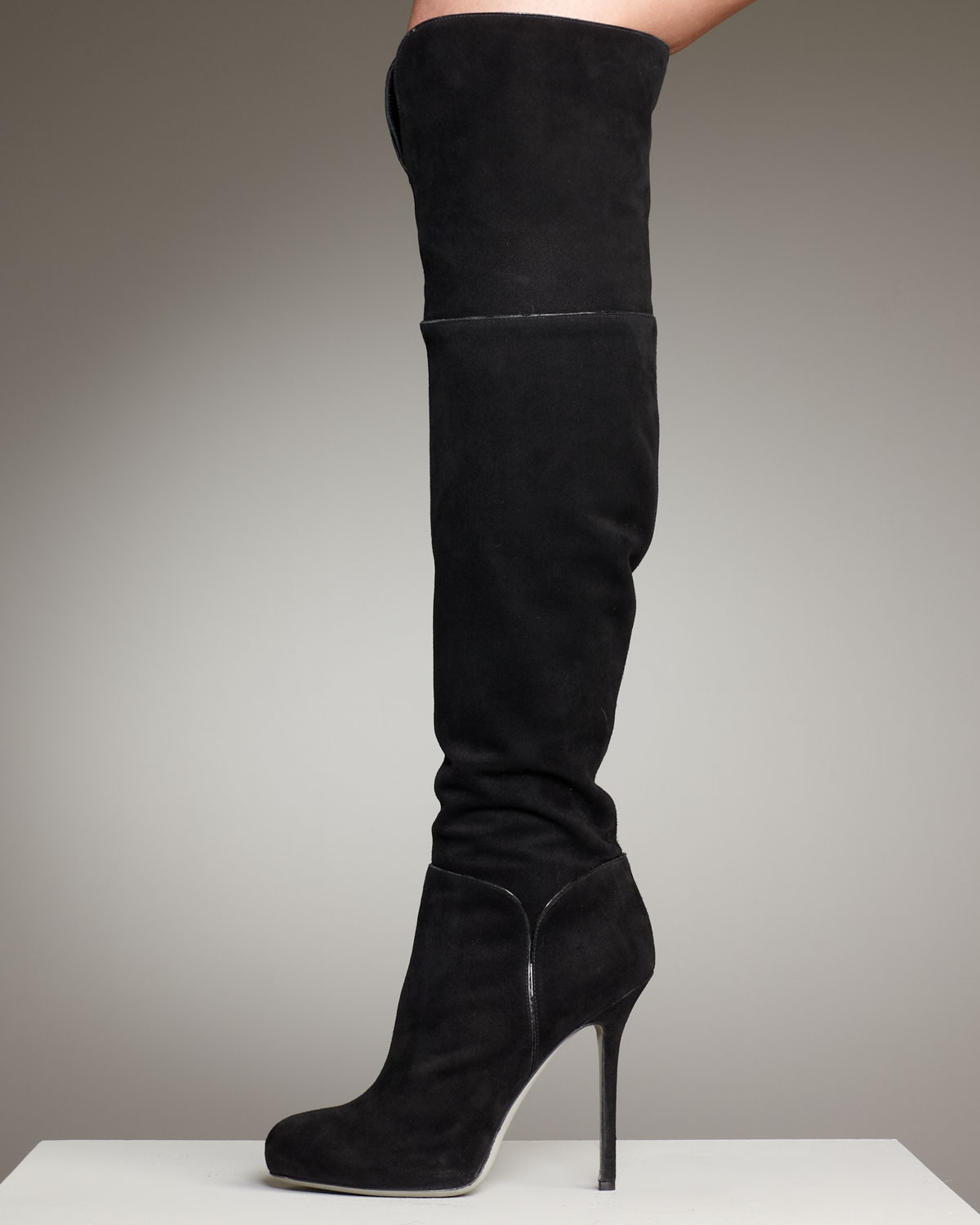 Sergio Rossi Suede Embossed Over-The-Knee Boots free shipping low price fee shipping outlet cheapest price affordable for sale tdT5LZK