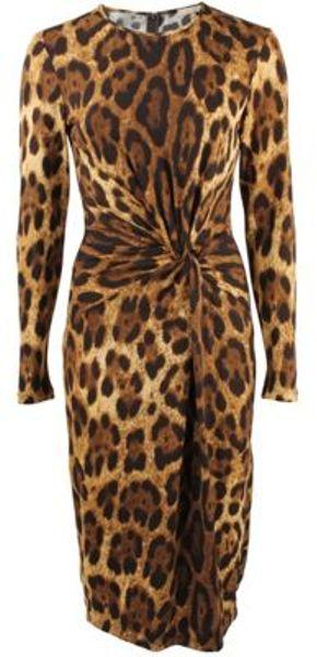 Michael Kors Dress in Brown (antelope) - Lyst
