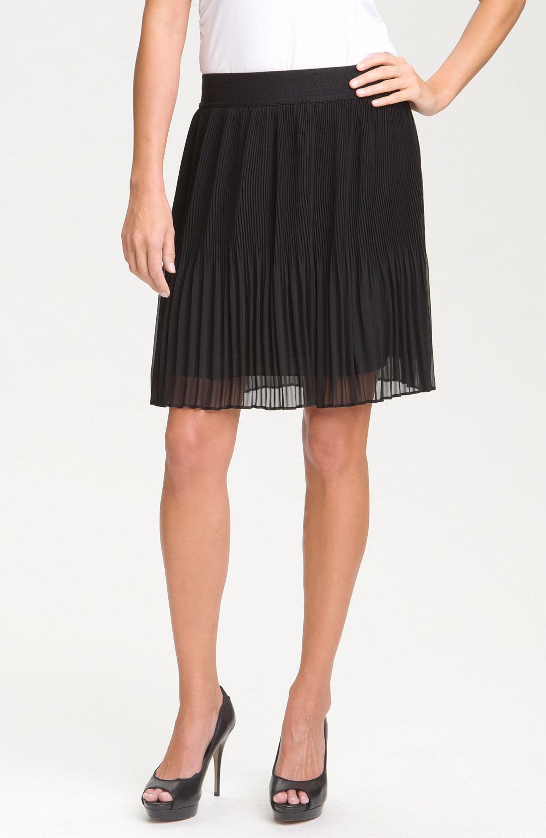 pleione micro pleat skirt in black lyst