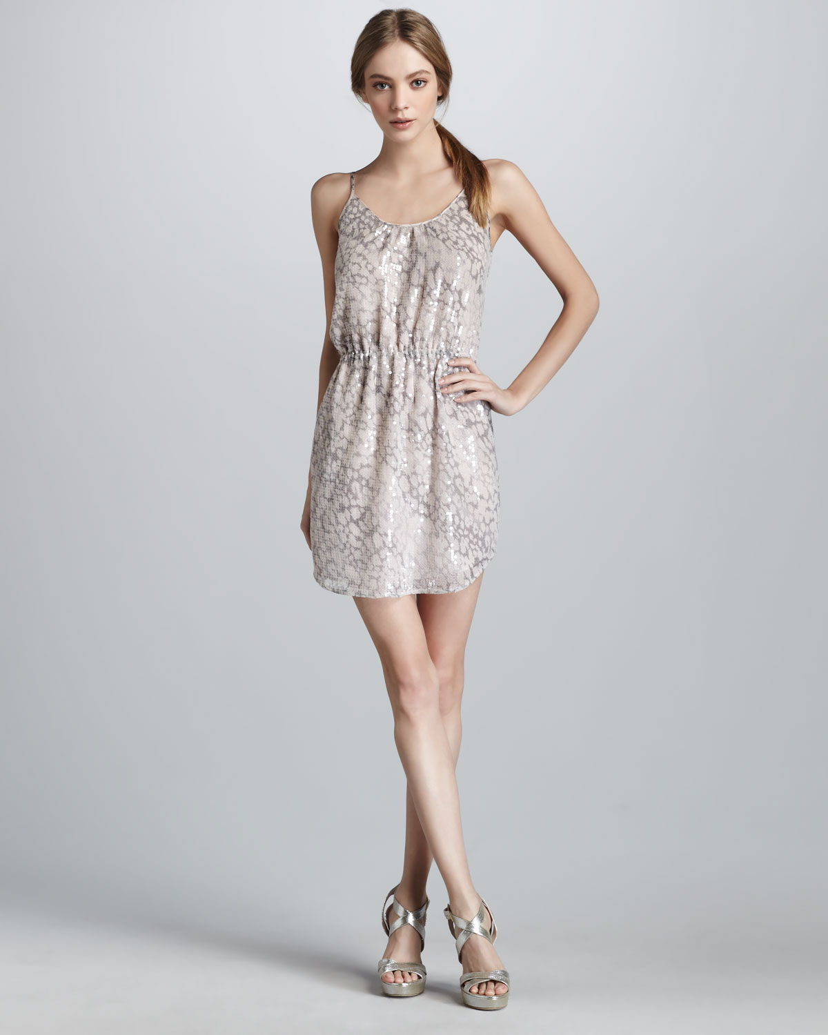 998fe8a448 Lyst - Rebecca Taylor Sequined Leopard-print Dress