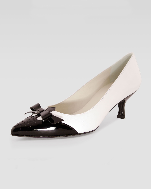 black pumps short heel