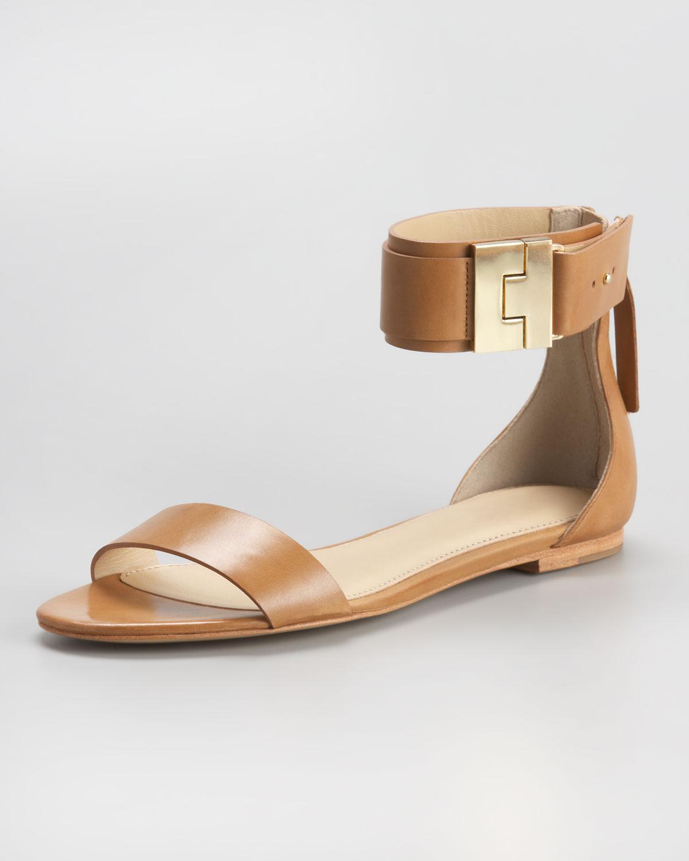 016fb9e03efc3 Rachel Zoe Ankle-strap Flat Sandal in Brown - Lyst