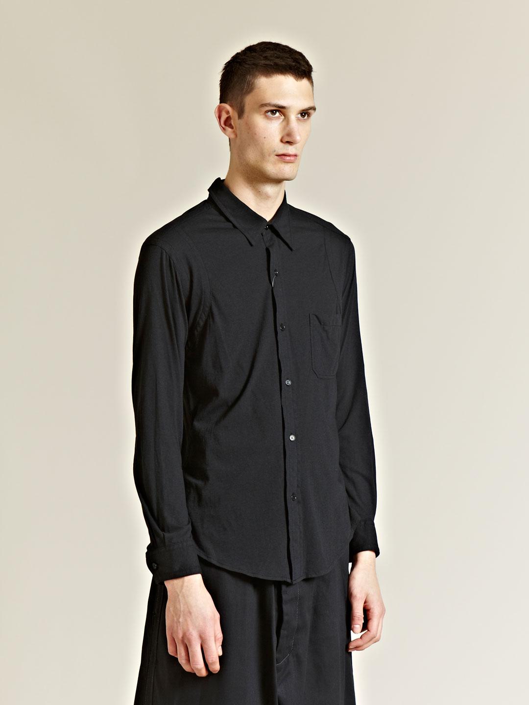yohji yamamoto pour homme mens plain jersey shirt in black for men lyst. Black Bedroom Furniture Sets. Home Design Ideas