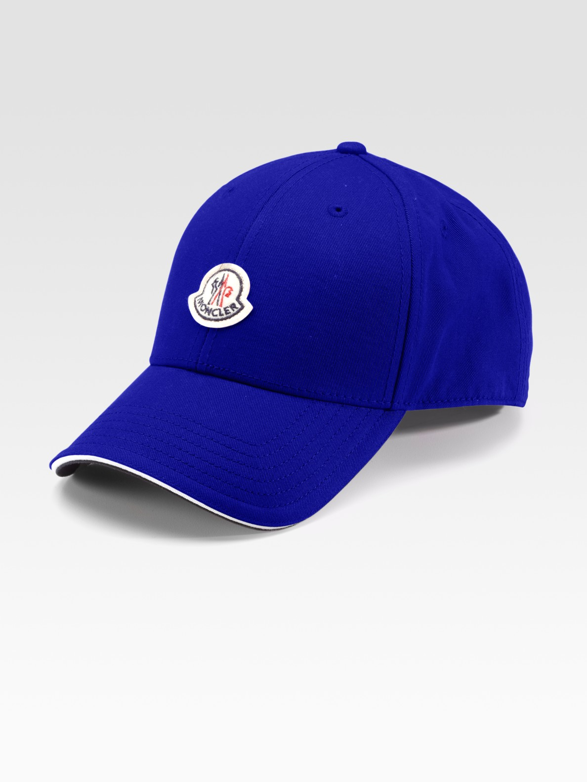 3e2de6f2caf3 Lyst - Moncler Woven Cap in Blue for Men