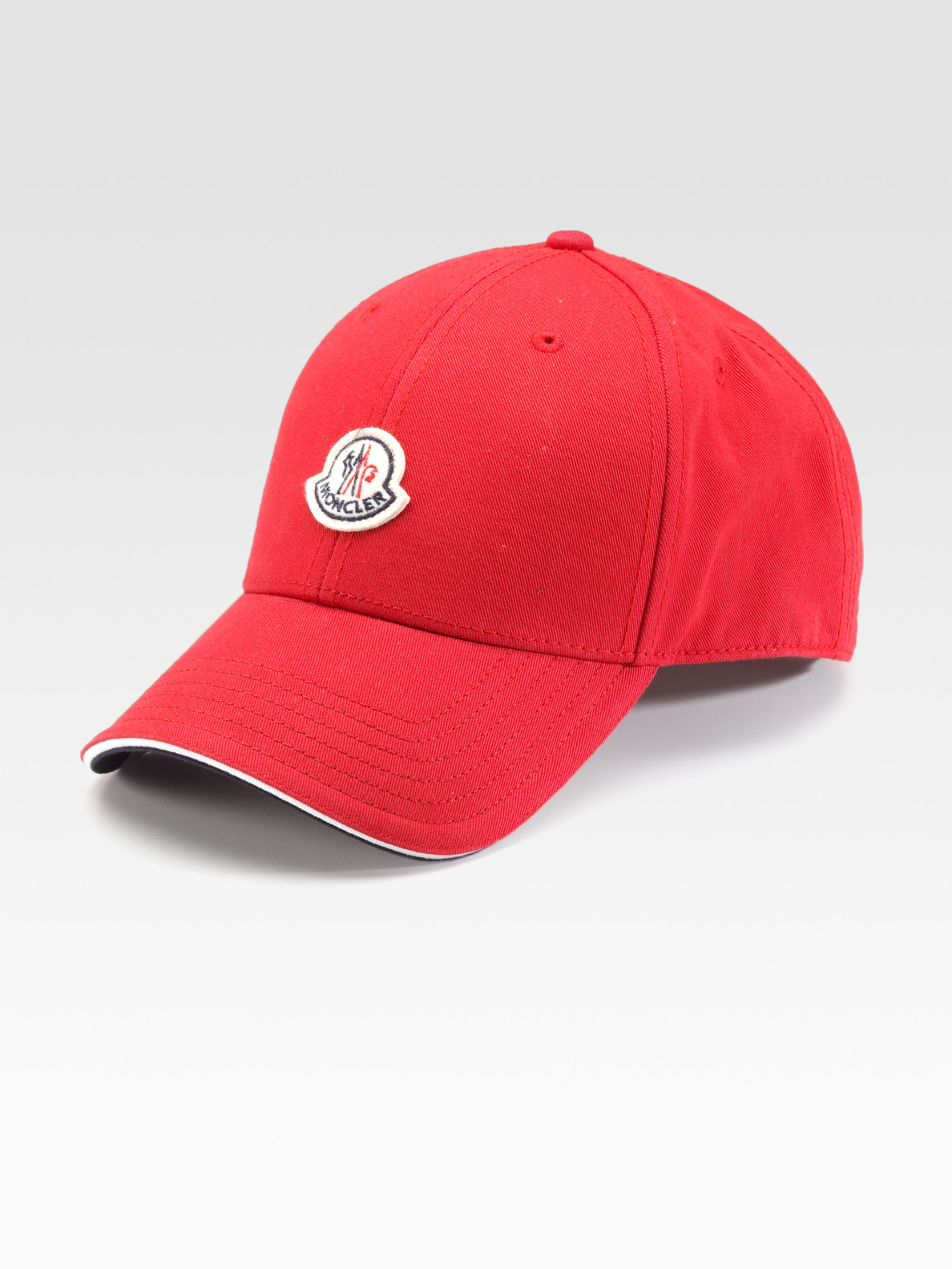 Lyst Moncler Woven Cap In Red For Men