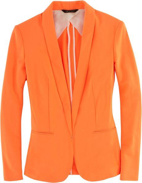 Rag & Bone Sliver Tuxedo Jacket in Orange