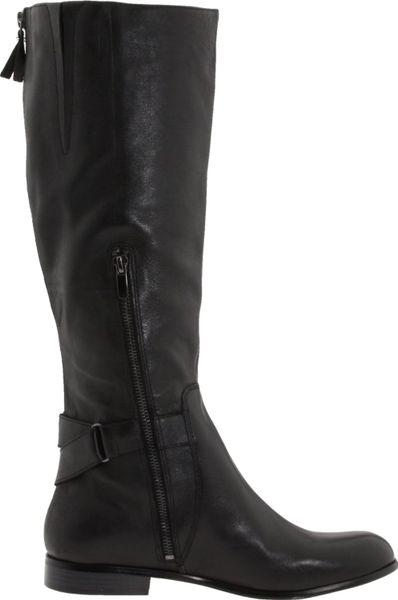 enzo angiolini valetta boot in black black leather lyst