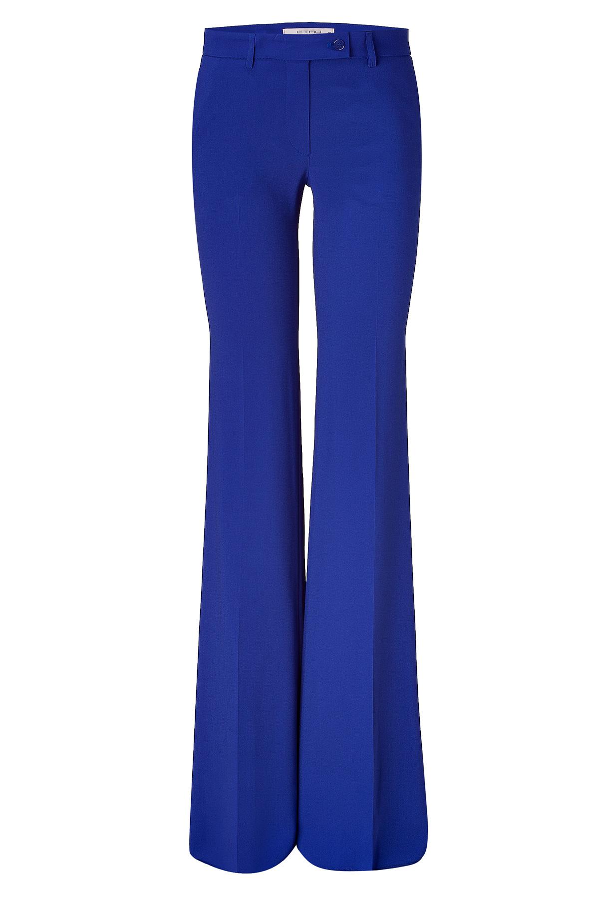 Etro Royal Blue Wide Leg Pants in Blue   Lyst