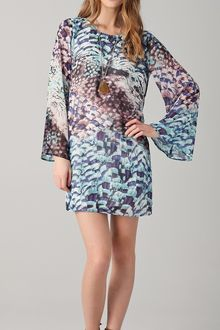 Pencey Feather Print Mini Dress - Lyst