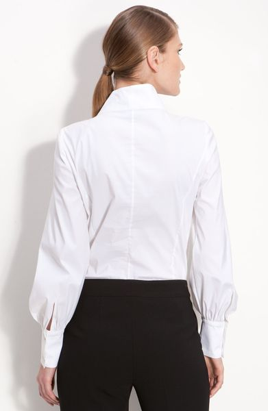 Womens White Fitted Blouses 35