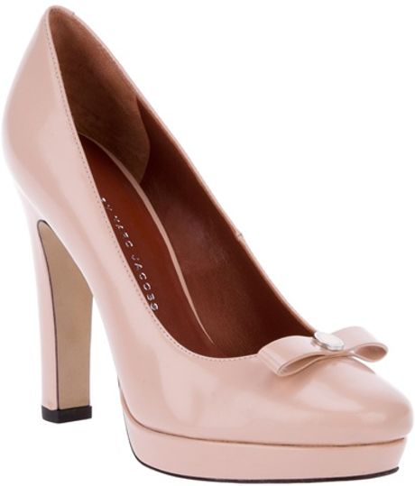 marc by marc platform bow court shoe in pink lyst