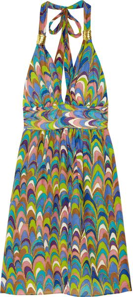 Milly Nevis Printed Linen and Cotton Blend Dress - Lyst