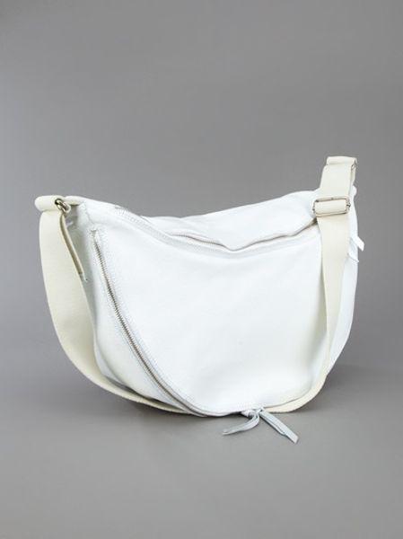 Mm6 By Maison Martin Margiela Half Moon Bag in White