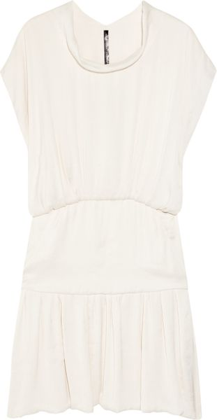 Theyskens' Theory Diza Washed-satin Dress in White - Lyst