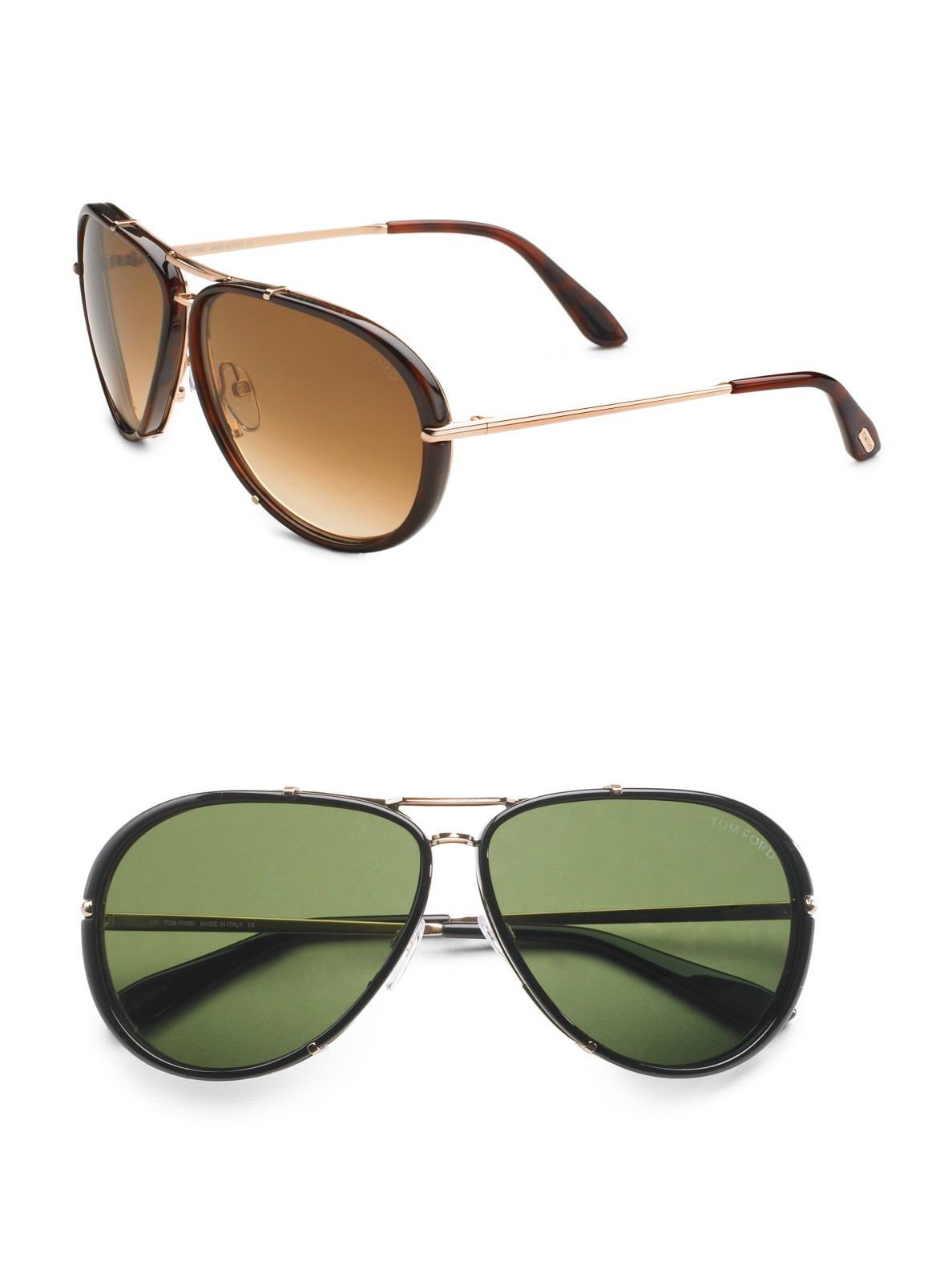 bc945893f8 Lyst - Tom Ford Cyrille Aviator Sunglasses in Black