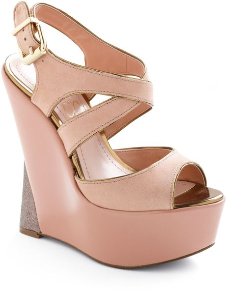 Modcloth Makes Me Blush Wedge in Pink (blush) - Lyst