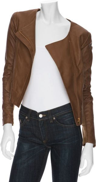 Veda Dali Leather Jacket in Brown (cinnamon) - Lyst