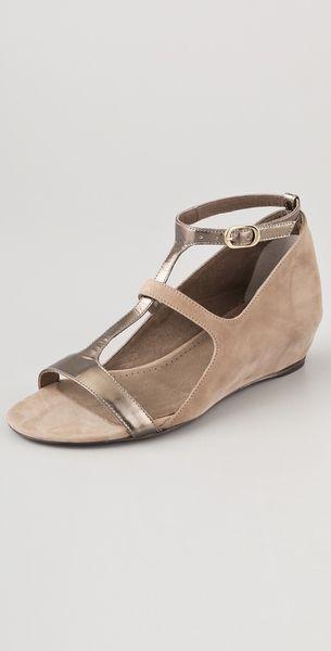 vic matie 39 masai hidden wedge sandals in beige biscuit lyst. Black Bedroom Furniture Sets. Home Design Ideas