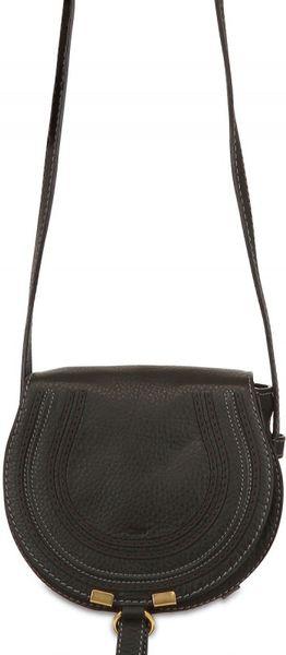 Chloé Small Marcie Crossbody Shoulder Bag in Black