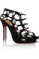 Christian Louboutin 20th Anniversary Neuron 120 Suede Cage Sandals