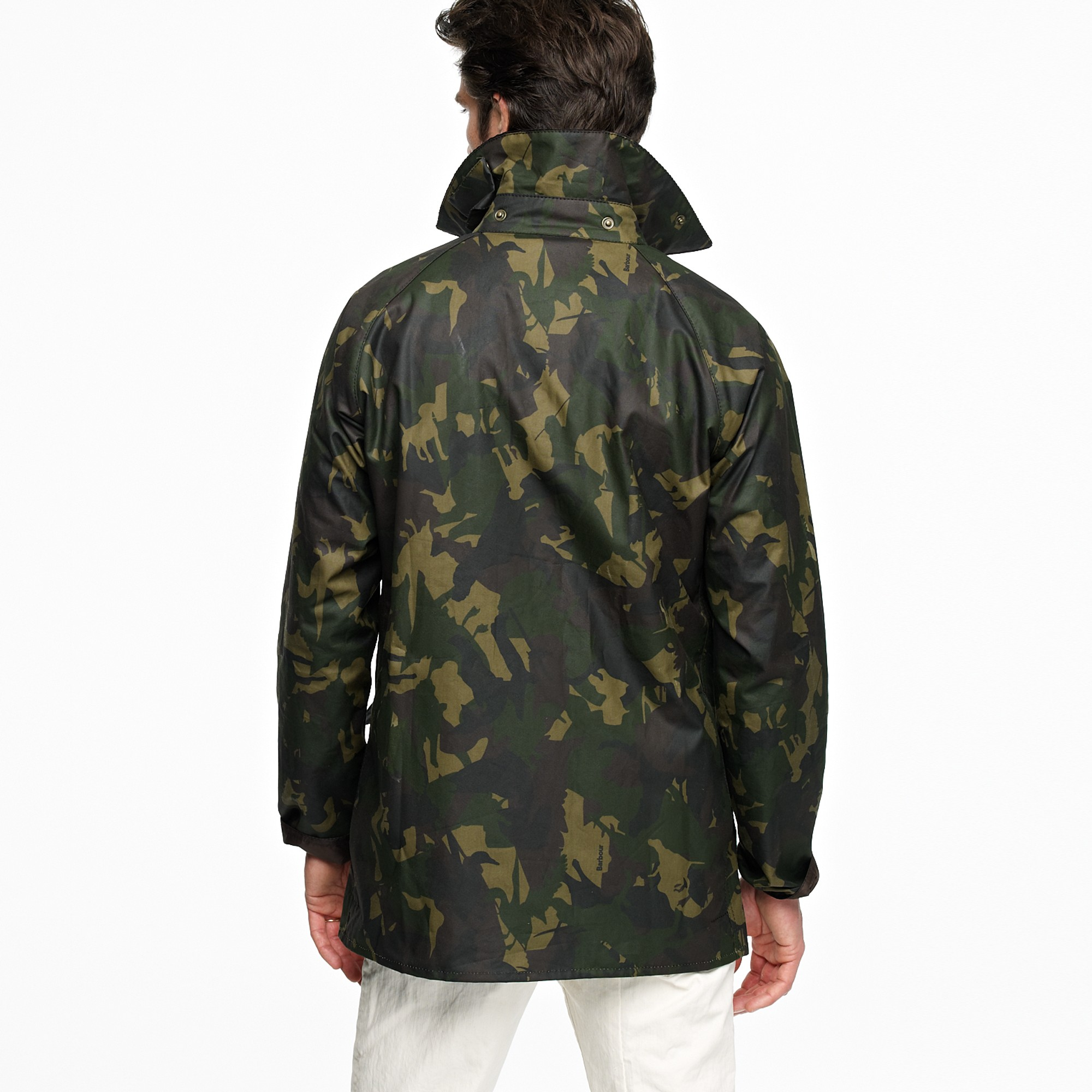 9d8458c03d6d for Bourne Lyst Crew J Men Barbour Jacket Camo in Green qZg1w