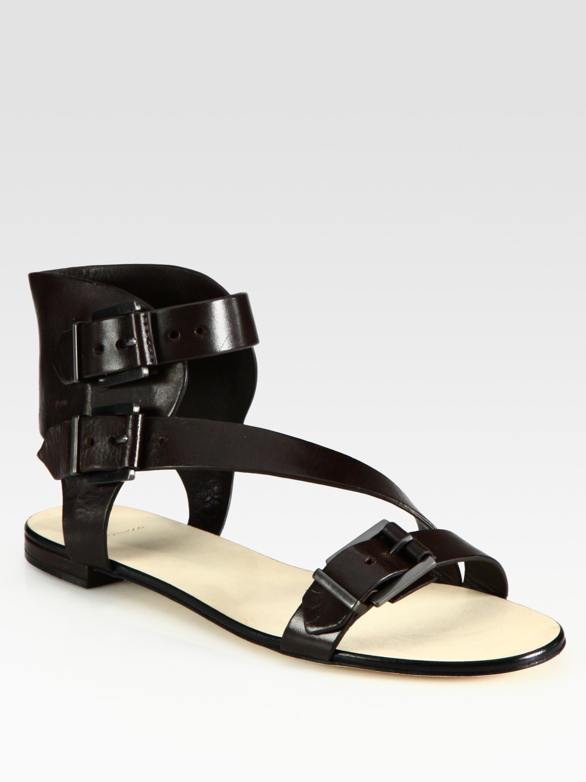 B Brian Atwood Leather Gladiator Sandals In Brown Lyst