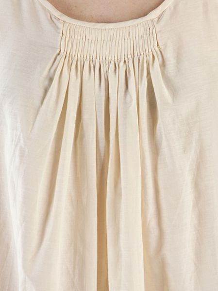By Malene Birger Nora Peasant Blouse In White Vanilla Lyst