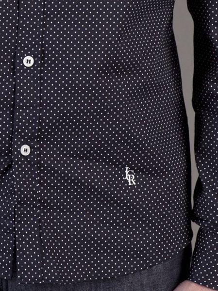 Dark Blue Polka Dot Shirt Polka Dot Shirt in Blue