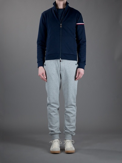 a3ff18396 Moncler Zipup Track Top in Blue for Men - Lyst