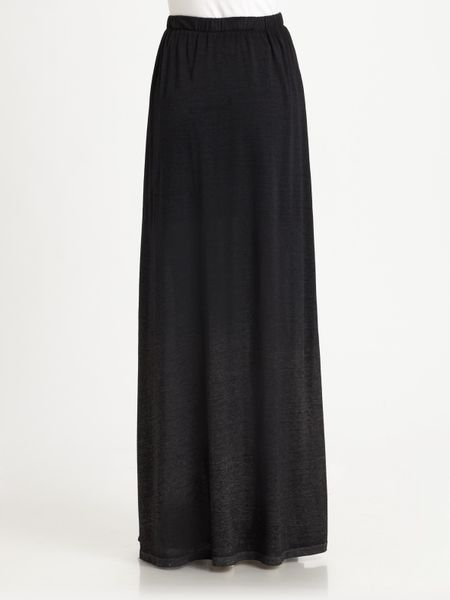 theory knit maxi skirt in black lyst