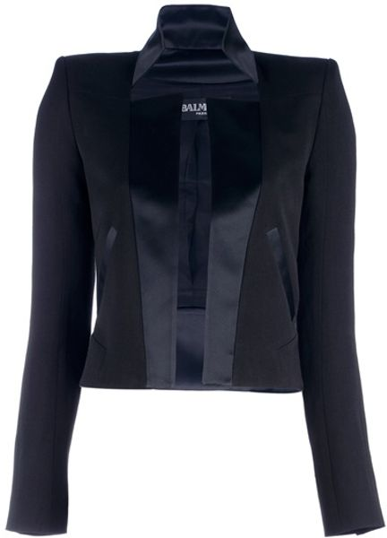 Balmain Structured Blazer in Black - Lyst