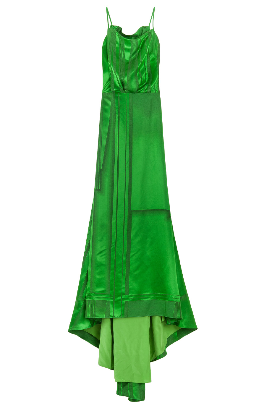 Lyst Carolina Herrera Lk40 Silk Stripe Gown In Green